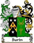 Surin Family Crest, Coat of Arms