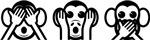 Three Wise Monkeys Emoji