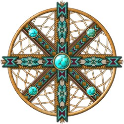 Native American Beadwork Mandala