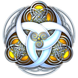 Celtic Triple Crescents - Yellow