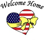 Welcome Home Patriotic Flag Heart