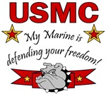 My ... is defending your freedom! USMC