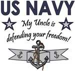 My Uncle is defending your freedom!