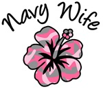 Navy Wife Pink Camouflage Flower