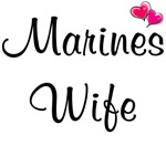 Marines Wife - With Pink Hearts
