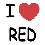 I heart red