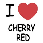 I heart cherry red