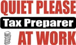 Quiet Please Tax Preparer At Work