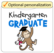 Kindergarten Graduate - Monkey (Blue)