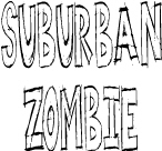Suburban Zombie: Down with the burbs t-shirts