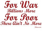 Millions More For War (anti-war goods)