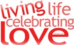 Celebrate Love t-shirts, women's apparel, etc.