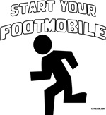 Start Your Footmobile Walking/Running t-shirts