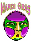 MArdi Gras Round Mask 