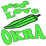 Okra  and other Vegetables on Shirts