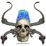 Eastern Dragon Skull Equal Blue Flame