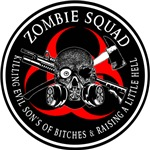 Biohazard Zombie Squad 3 Ring Patch outlined