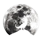 Dinosaur Moon Silhouette - T-Rex