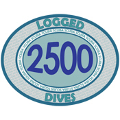2500 Logged Dives