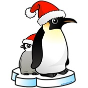 Emperor Penguin Santa