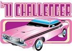 Vintage T-Shirts - 1971 Dodge Challenger