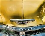 Yellow Chevy Hood