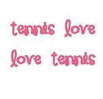 Tennis Love Tshirs | Pink