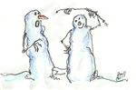 David Street Art ~ Snowmen No. 1