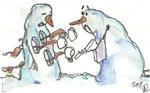 David Street Art  ~ Snowmen No. 3