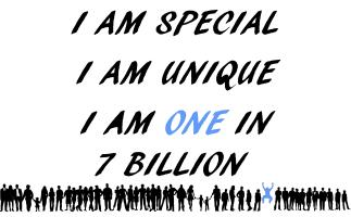 A One In 7 Billion Person