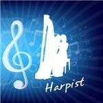 Treble Clef Harpist