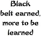 Earning a Black Belt