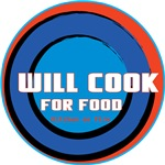 Will Cook For Food in Blue