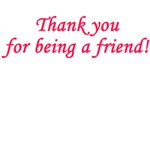 Thank you for being a friend! - Coral Pink