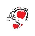 HEARTS N SWIRLS