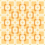 Retro Abstract Interlocking Square Blocks