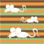 Retro Stripes Year of the Rat