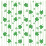Striped St Patrick's Day Shamrocks