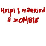A great Zombie t-shirt based upon Shaun of the undead.  Help! I married a zombie is a hilarious take on horror movies for all the zombie geeks looking for a great zombie shirt.