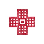 Pretty red christian cross 2 L f