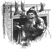 1901 Santa at the Chimney