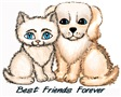 Cat Dog Friends t-shirts and gifts