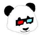 Panda Bear with 3D Glasses