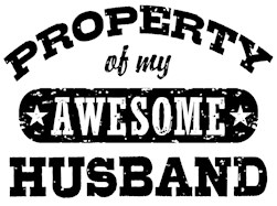Property Of My Awesome Husband t-shirt