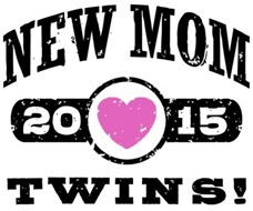 New Mom Twins 2015 t-shirt