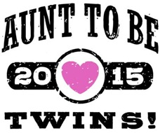 Aunt To Be Twins 2015 t-shirt