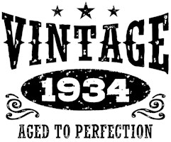 Vintage 1934 t-shirts
