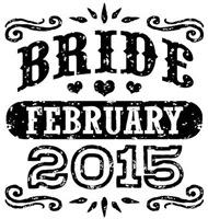 Bride February 2015 t-shirt