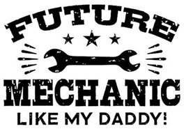 Future Mechanic Like My Daddy t-shirts