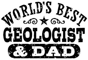 World's Best Geologist and Dad t-shirt